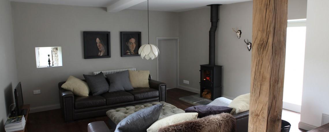 Prachtig gestuukte woonkamer